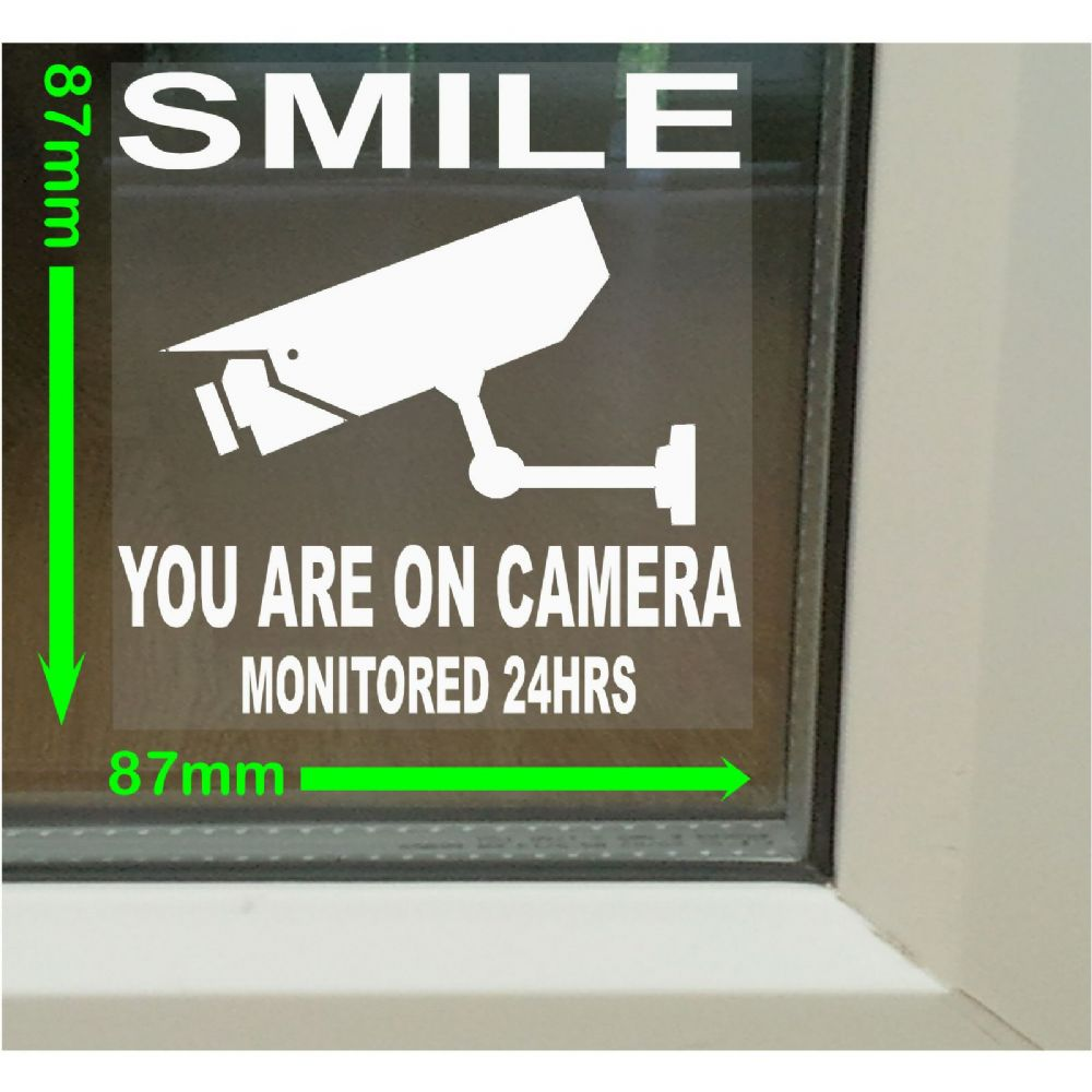 Cctv Smile Closed Circuit Television Stickers For Windows Mmx Mm Security Warning Signs For House Flat Business Property Self Adhesive Vinyl P Ekm X Ekm on Fire Alarm Circuit